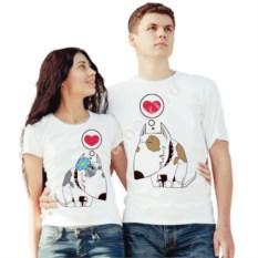 Парные футболки Влюбленные бультерьеры
