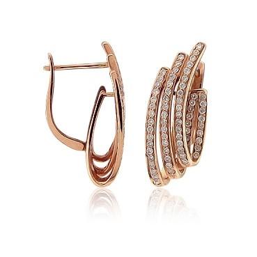 Серьги с бриллиантами TTF-Luxury