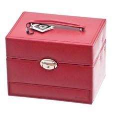 Красная шкатулка для украшений с ручкой и замком Davidt's