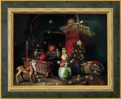 Картина с кристаллами Сваровски Старый Новый Год