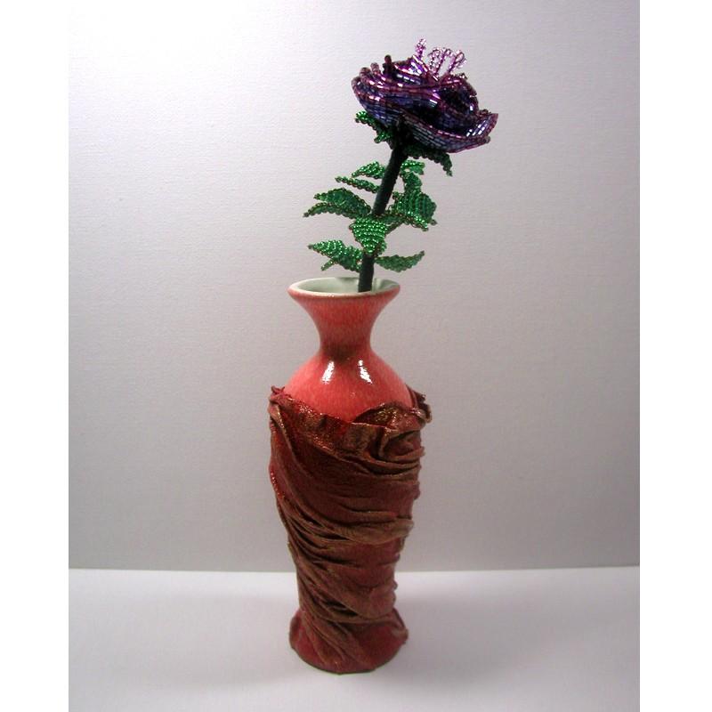 Роза в вазе ручной работы Фея