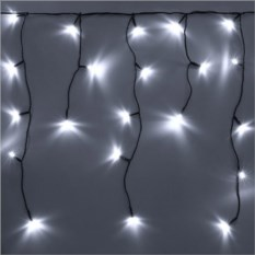 Белая светодиодная бахрома 3х0,5 м
