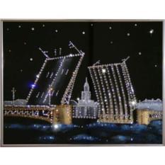 Картина с кристаллами Swarovski Дворцовый мост