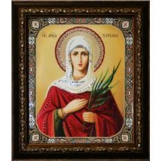 Икона Святая Мученица Татьяна с кристаллами Swarovski