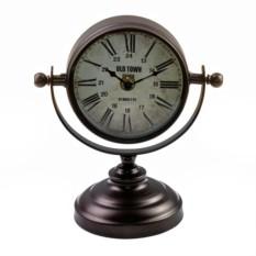 Настольные часы на подставке (тёмная медь)