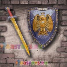 Игровой набор рыцаря Щит и меч с орлом
