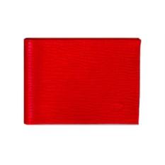 Красное кожаное портмоне Aurora Torino