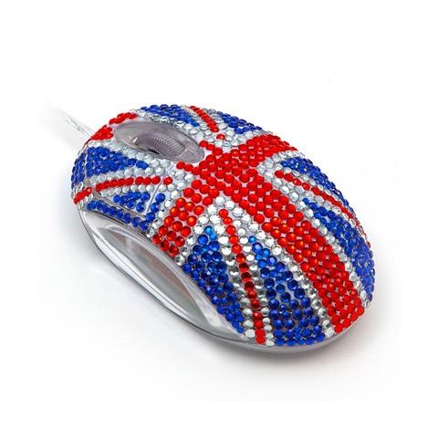 Мышка в «бриллиантах» GB Flag