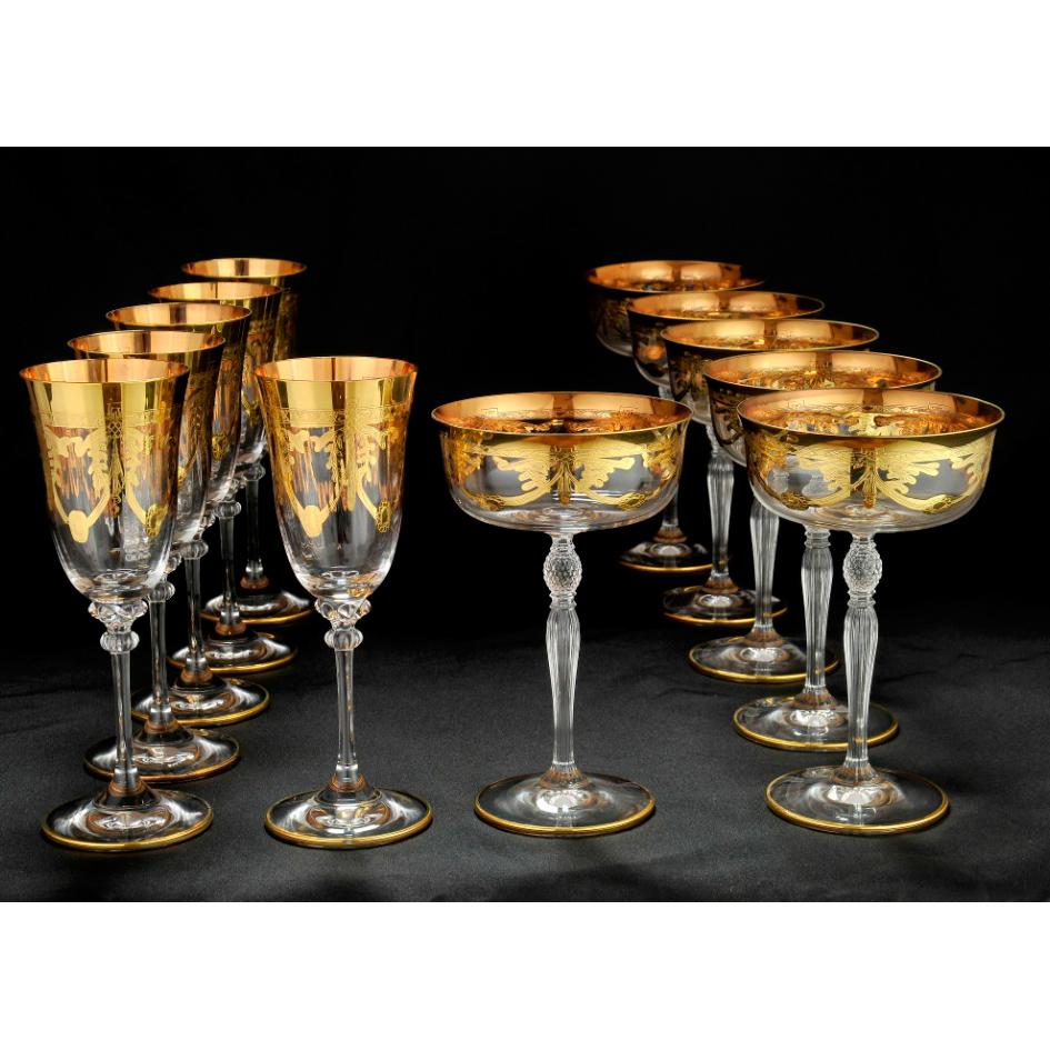 Набор бокалов для виски и шампанского