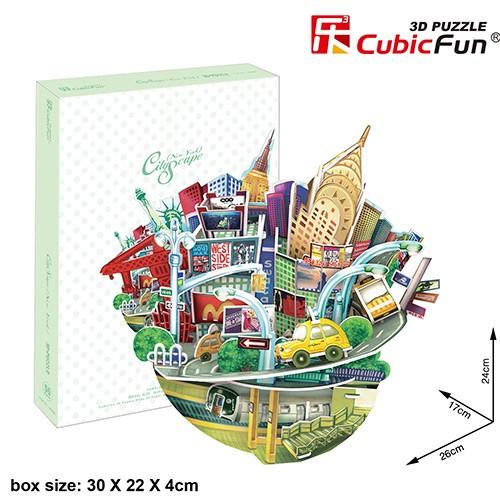 3D пазл Cubic Fun Городской пейзаж - Нью-Йорк