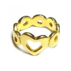 Кольцо Сердце, золото 585