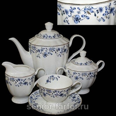 Чайный сервиз Glance (Ситец) на 6 персон (15 предметов)