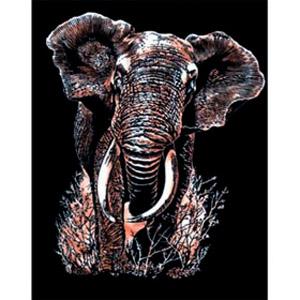 Гравюра медная «Слон»