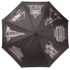 Черный полуавтоматический зонт «Восьмое чудо света»