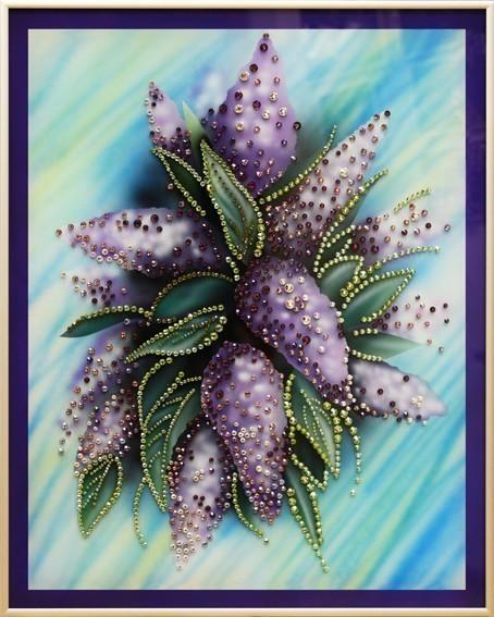 Картина Swarovski Сиреневое настроение, 1266 кристаллов, 40х50
