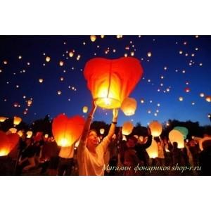Небесные фонарики набор Свадебный