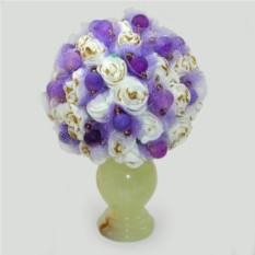 Цветы из агата Нежность