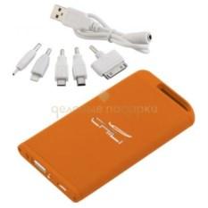 Оранжевое зарядное устройство с фонариком Theta