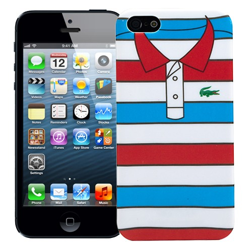 Чехол для iPhone 5/5S Red with blue stripes