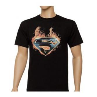 Футболка Superman in fire