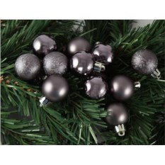 Набор ёлочных игрушек Шары цвета темного серебра