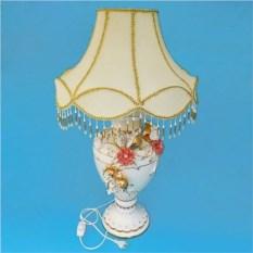 Керамическая настольная лампа с цветами