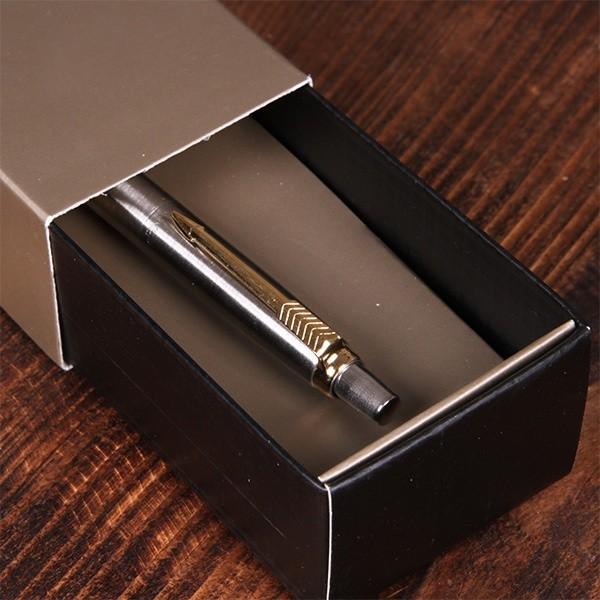 Ручка Parker с гравировкой, кнопочный механизм, цвет серебро
