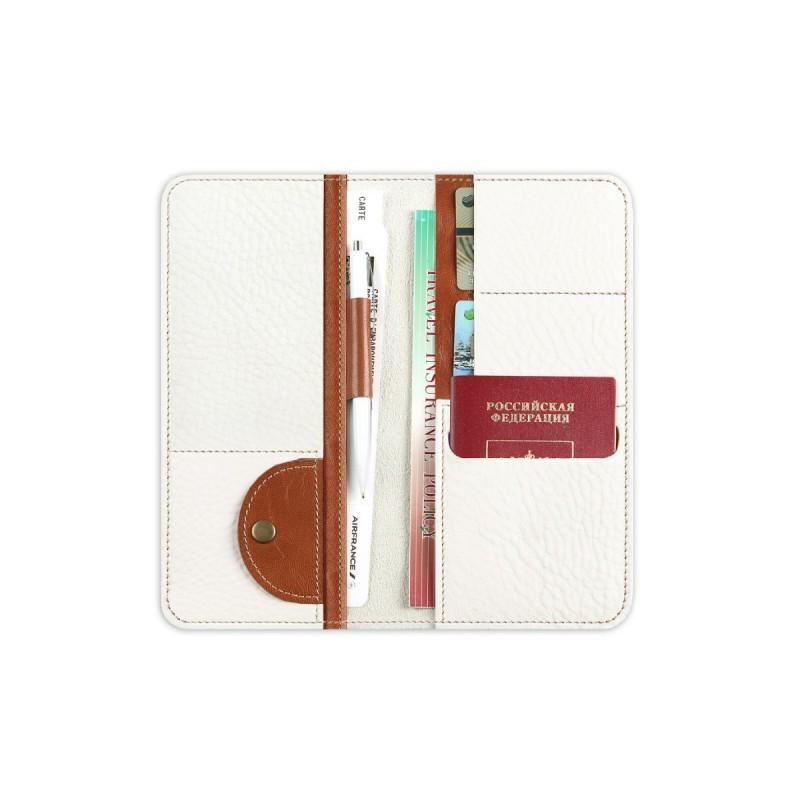 Холдер кожаный для документов Artskill Travel (белый)