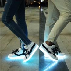 Светящиеся LED кроссовки с полоской