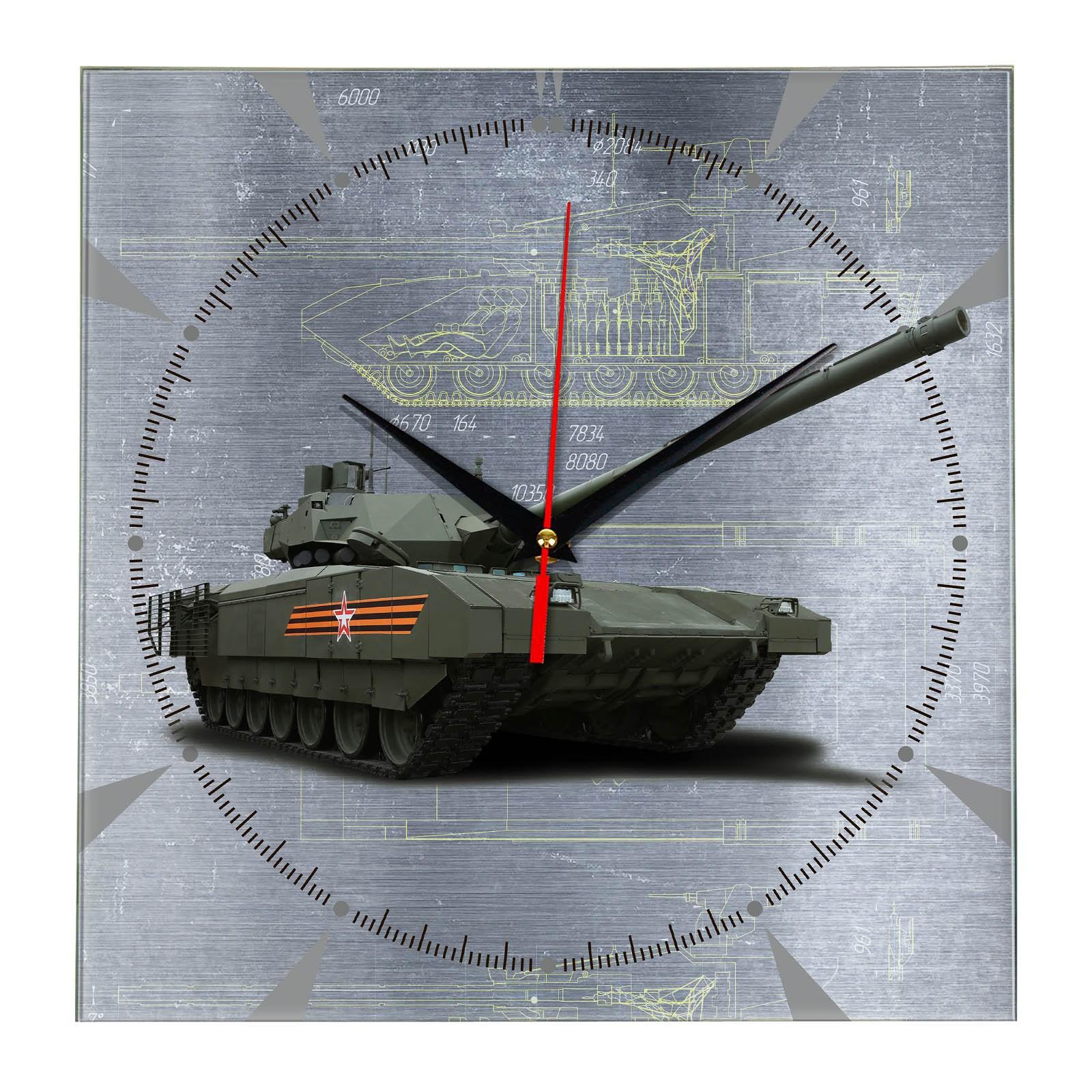 Настенные квадратные часы Армата