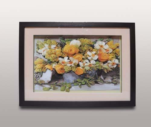 Декоративное панно, желтые цветы