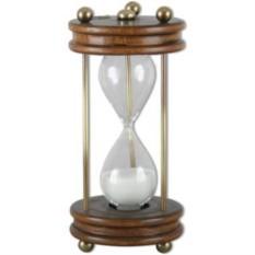 Песочные часы в коричневой основе