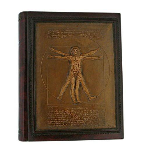 Кожаный фотоальбом Homo Vitruvianio