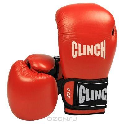 Боксерские перчатки Clinch, 8 унций (237-8), красные