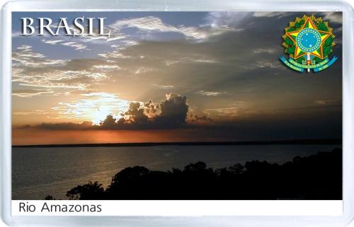 Магнит на холодильник: Бразилия. Река Амазонка