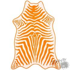 Пляжное полотенце Зебра (оранжевое)
