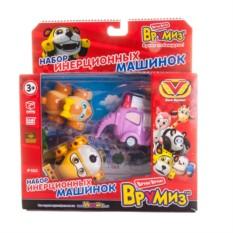 Набор машинок Vroomiz (Спиди, Софи, Слон пожарный)