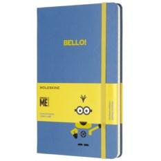 Голубая записная книжка в линейку Moleskine Minions