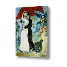 Репродукция картины Влюбленные, Шагал