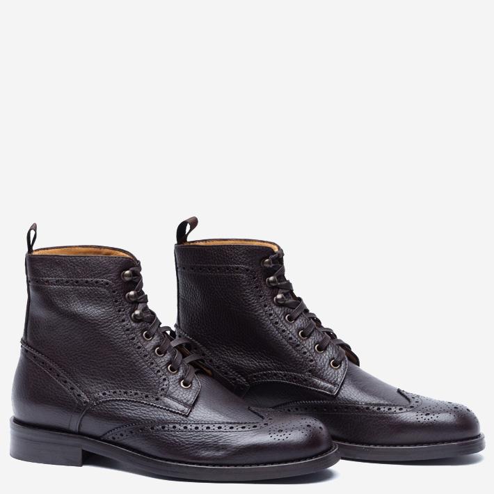 Высокие темно-коричневые ботинки Gents' Stuff by Harridge