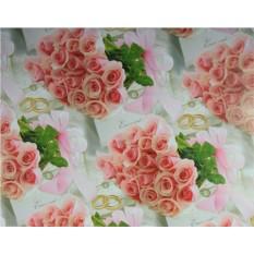 Упаковочная бумага с розами