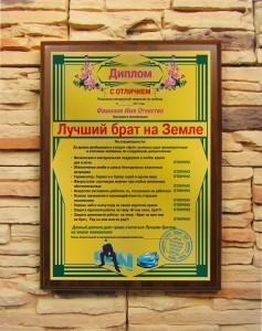 Подарочный диплом Лучший брат на Земле