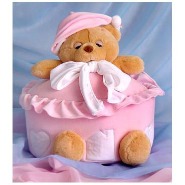 Шкатулочка «Мишка розовый»
