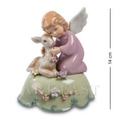 Музыкальная фигурка Ангелочек с олененком (Pavone)