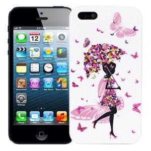 Чехол для iPhone 5/5s Butterflies Girl with umbrella