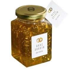Мёд с золотом для еды