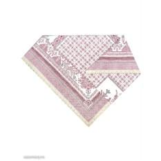 Розовая скатерть Артель с кружевами