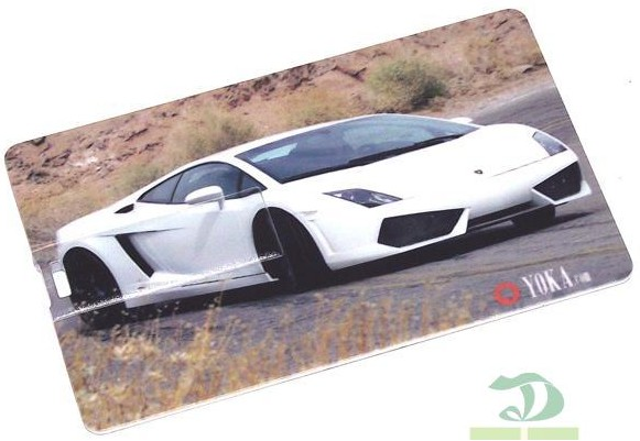 Флешка кредитка Автомобиль (белый) 8 Gb