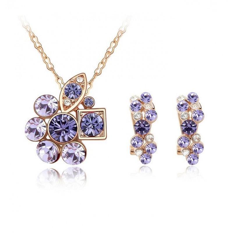 Комплект с фиолетовыми вставками «Прелесть»