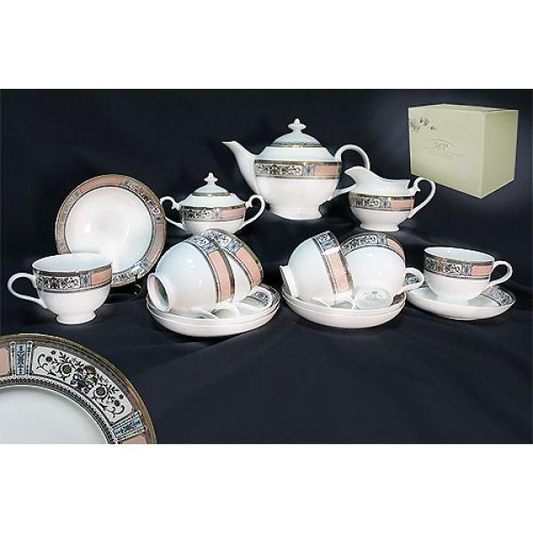 Фарфоровый чайный сервиз 17 предметов Verona